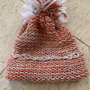 Homemade Knit Hat with Tassel on Top